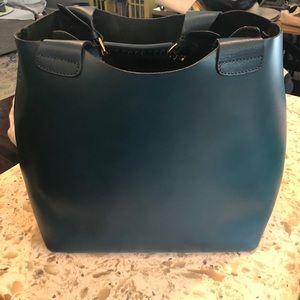 Rare teal large Zara plaited shopper
